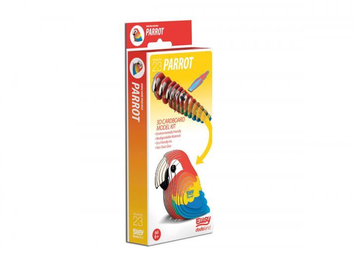 Eugy Parrot 3D model kit