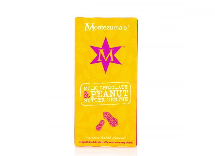Montezuma's milk chocolate with a peanut butter truffle centre