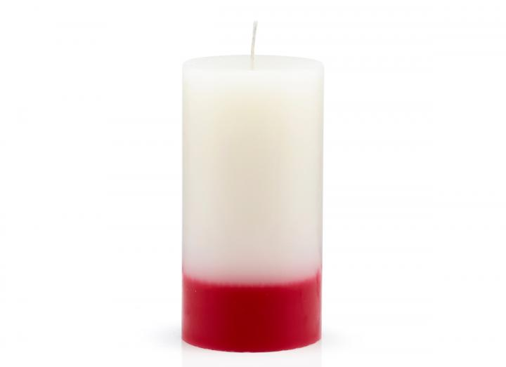 Rose & Oud scented pillar candle made by The Recycled Candle Company