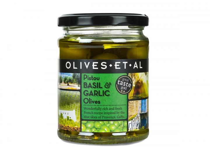 Olives Et Al pistou basil & garlic olives 250g
