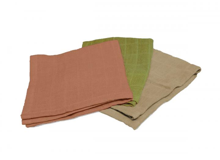 Full Circle plant-dyed dishcloths set of 3, made from bamboo & recycled plastic