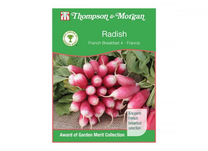 Radish 'french breakfast 4 - francis' seeds from Thompson & Morgan