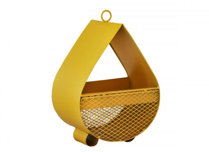 Raindrop Bird Feeder in mustard