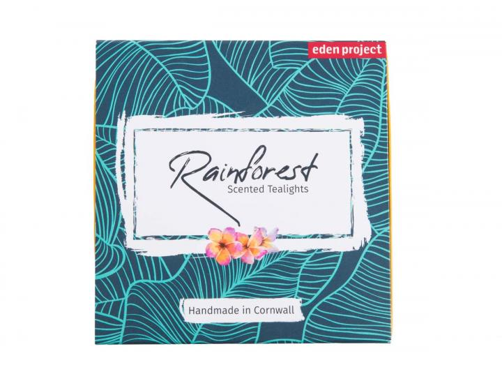 Rainforest scented tealights, an Eden Project exclusive product