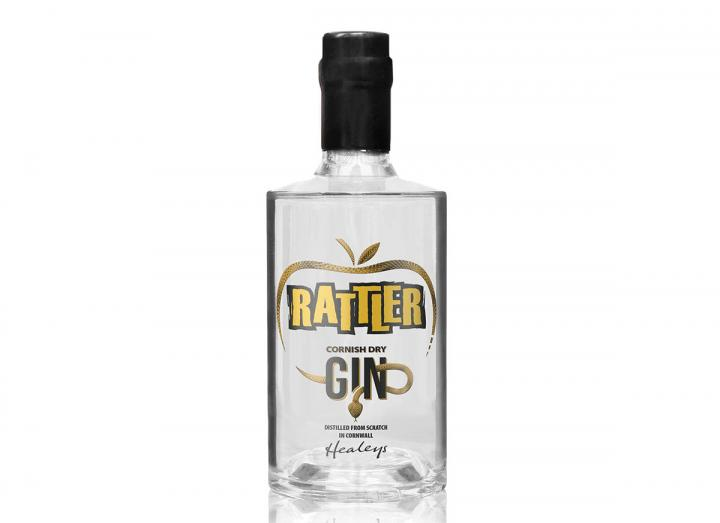 Rattler Cornish dry gin, distilled from scratch in Cornwall