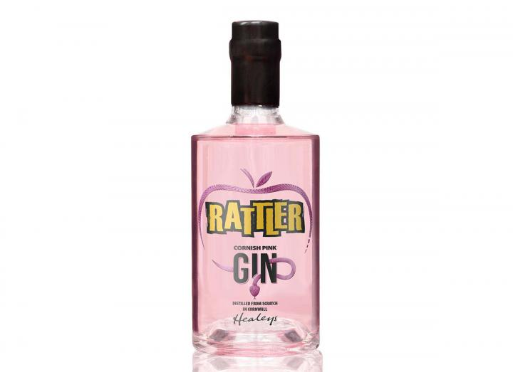 Rattler Cornish pink gin, distilled from scratch in Cornwall