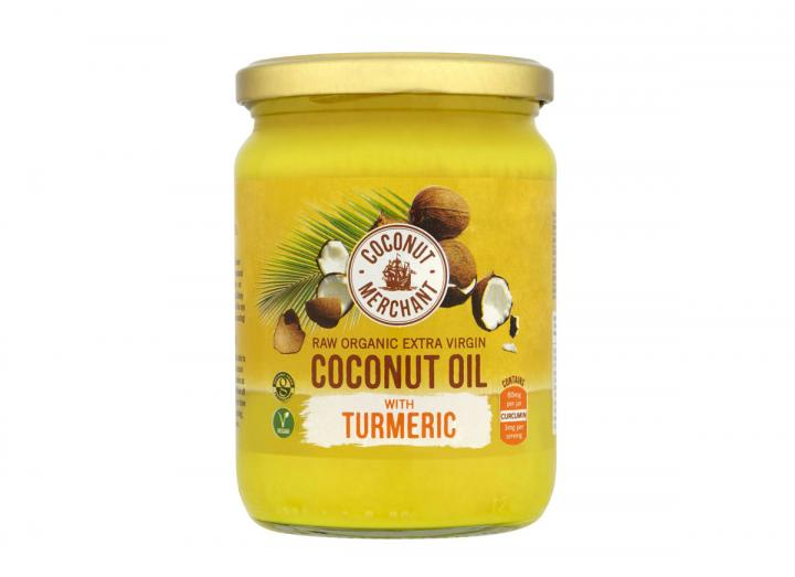 Coconut Merchant raw organic extra virgin coconut oil with turmeric 500ml