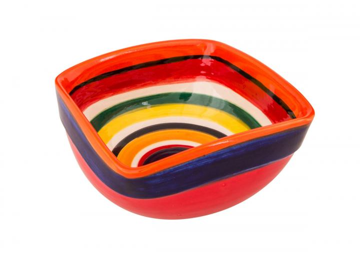 Rayas design artisanal square bowl