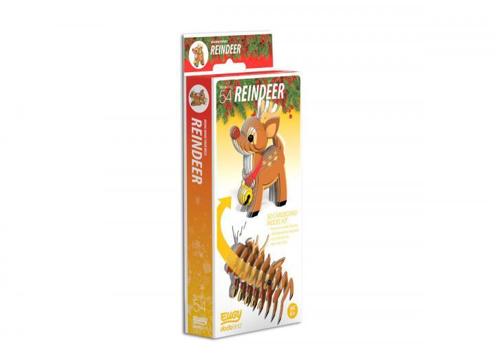 Reindeer 3D cardboard model kit