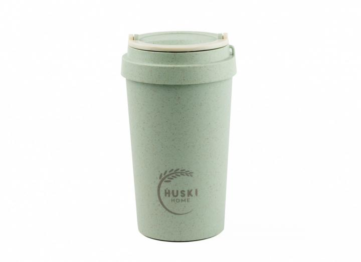 Duck egg blue rice husk travel cup from Huski Home