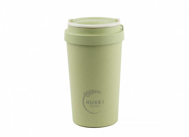 Pistachio rice husk travel cup from Huski Home