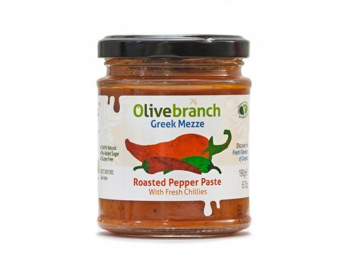 Roasted red pepper paste from Olive Branch