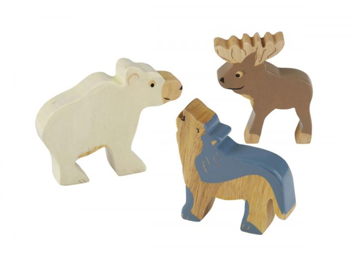Rubberwood nordic arctic animals from HEVEA