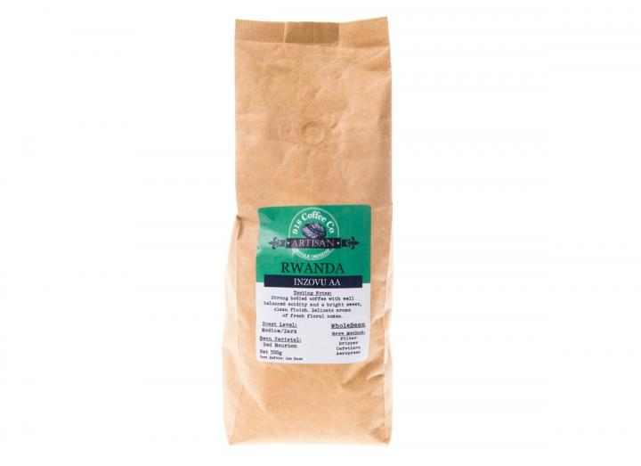500g bag of Rwandan single origin whole bean coffee