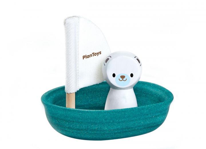 Plan Toys sailing boat with polar bear