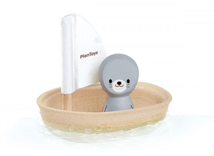 Plan Toys sailing boat with seal