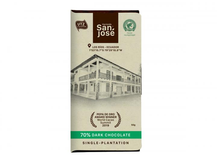 Hacienda San José 70% dark chocolate 50g