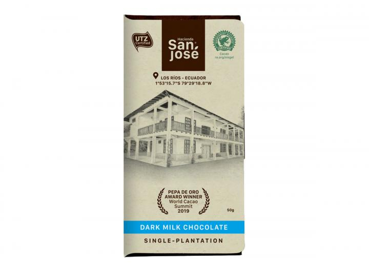 Hacienda San José dark milk chocolate 50g