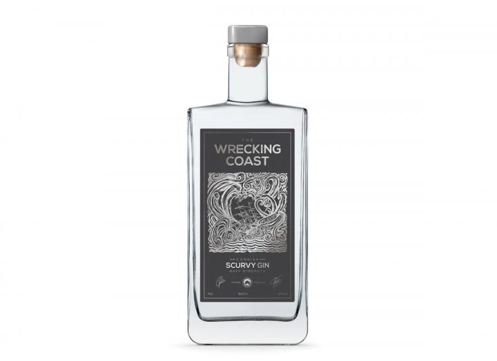 The Wrecking Coast Scurvy Navy Strength Gin 70cl