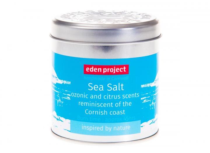 Sea salt scented candle tin
