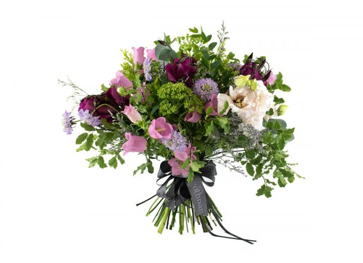 Seasonal selection bouquet, hand-tied by Tregothnan
