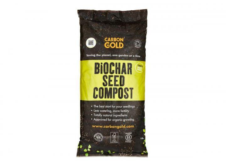 Carbon Gold biochar seed compost 10L