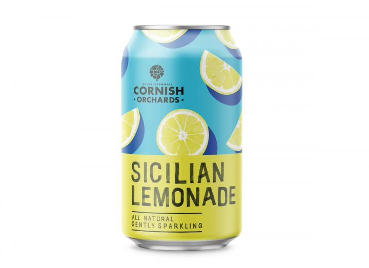 Cornish Orchards Sicilian lemonade sparkling juice drink 330ml can