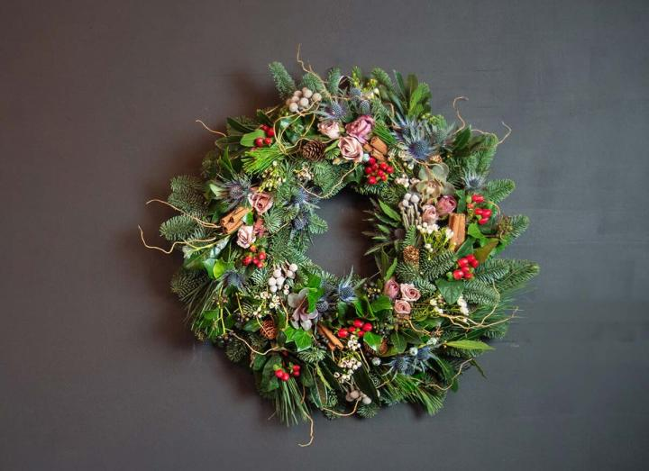 Signature Collection Wreath handmade on the Tregothnan estate