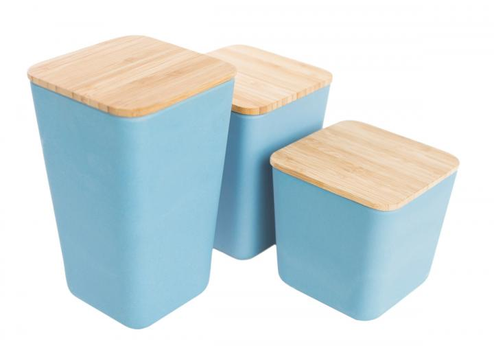 Slate blue bamboo fibre containers