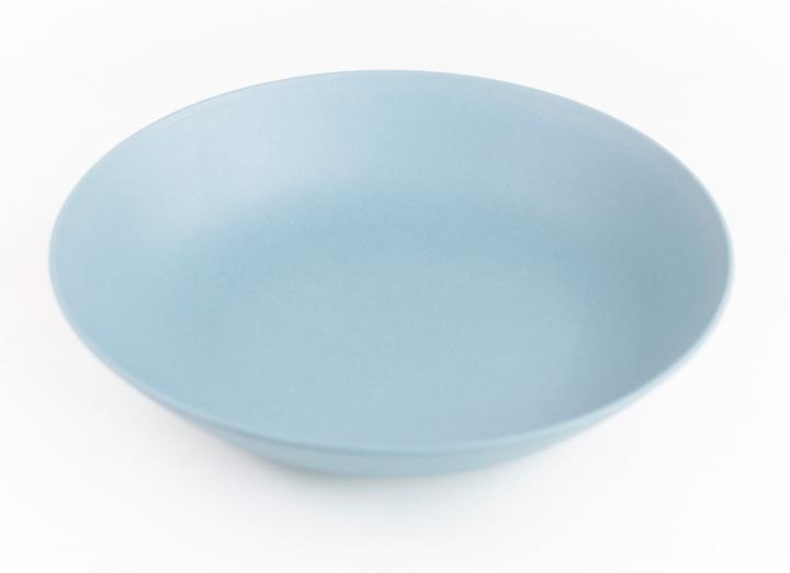 Slate blue bamboo fibre pasta bowl