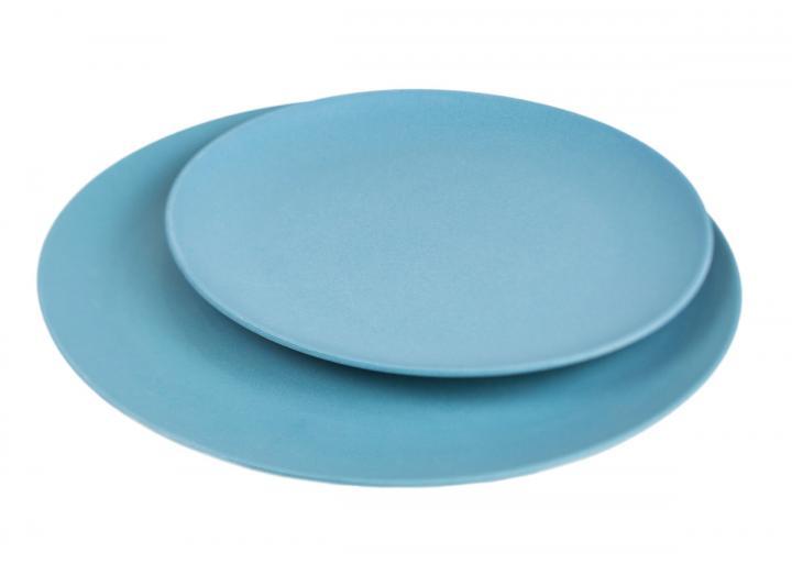 Slate blue bamboo plates