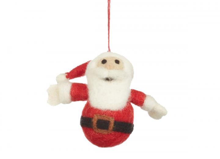 Small santa hanging decoration