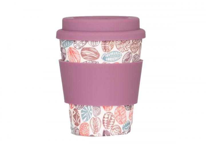 300ml bamboo coffee cup with coffee bean print