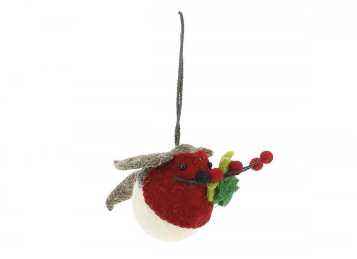 Small hanging robin leaves & berries