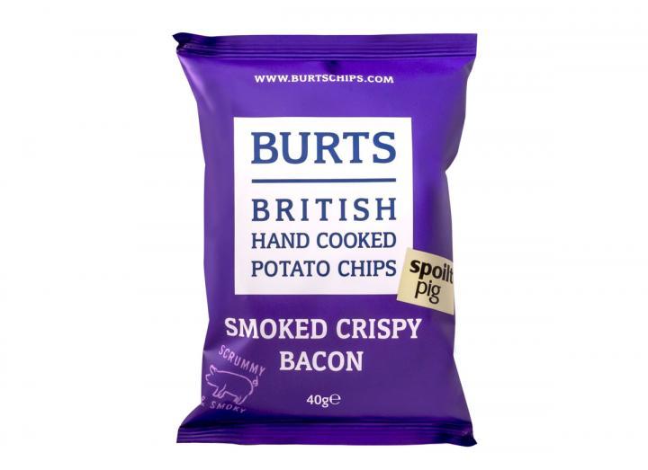 Burts smoked crispy bacon potato chips 40g