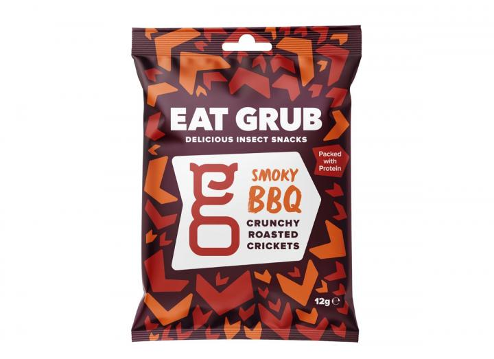 Smoky BBQ crunchy roasted crickets from Eat Grub