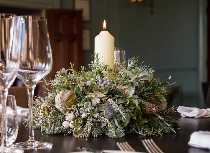 Snow Queen collection table decoration handmade on the Tregothnan estate in Cornwall