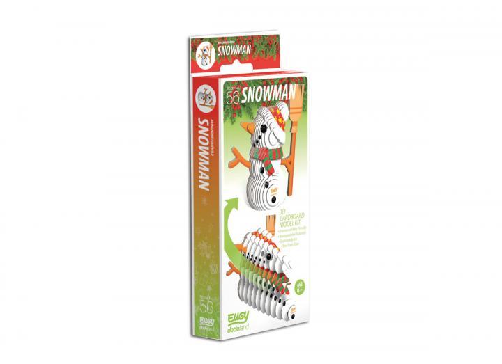 Snowman 3D cardboard model kit