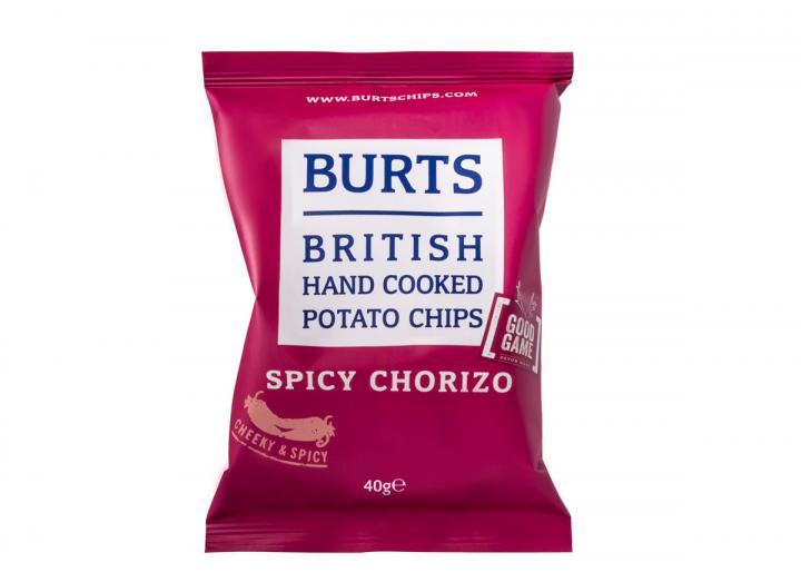 Burts spicy chorizo potato chips 40g