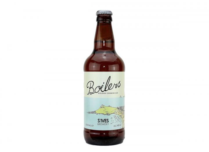 St Ives Brewery boilers golden Cornish ale 500ml