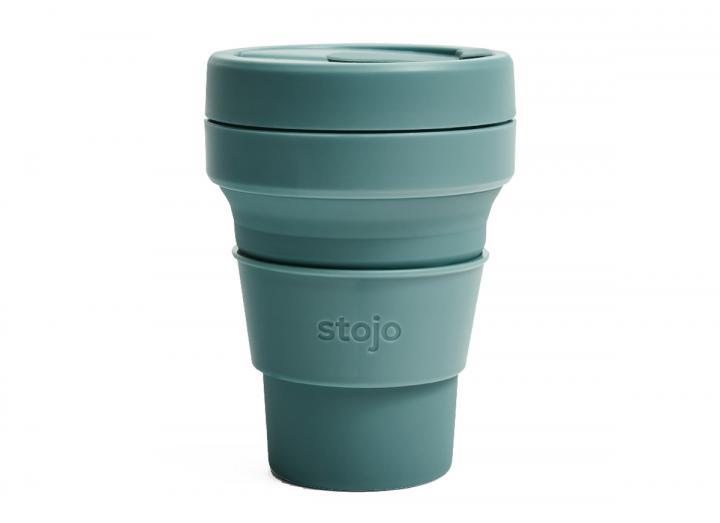 Stojo Pocket Cup 12oz in Eucalyptus