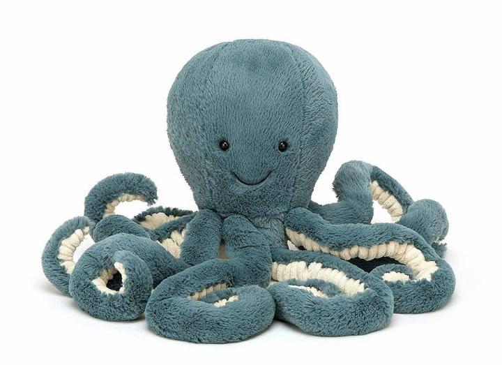 Medium Storm octopus cuddly toy from Jellycat