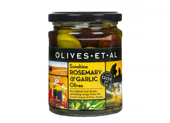 Olives Et Al sunshine rosemary & garlic olives 250g