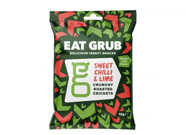 Sweet chilli & lime crunchy roasted crickets from Eat Grub