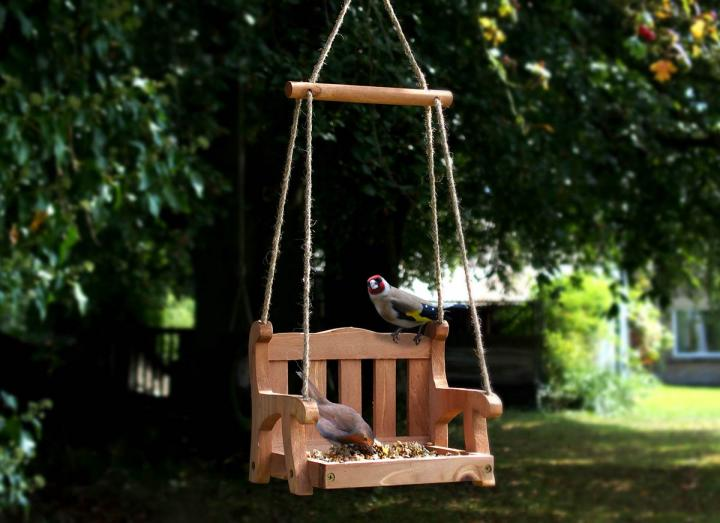 Swingseat bird feeder
