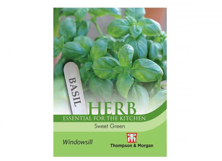 """Basil """"Sweet Greens"""" herb seeds from Thompson & Morgan"""