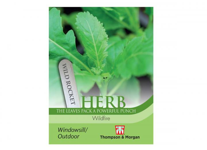 """Wild Rocket """"Wildfire"""" herb seeds from Thompson & Morgan"""