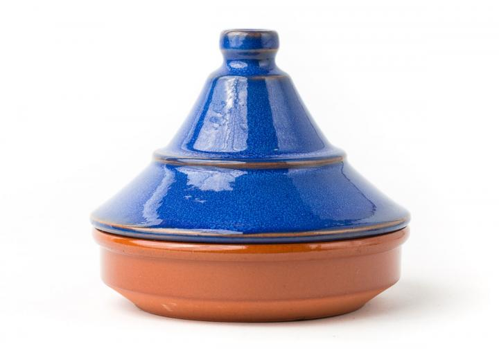Blue ceramic tagine