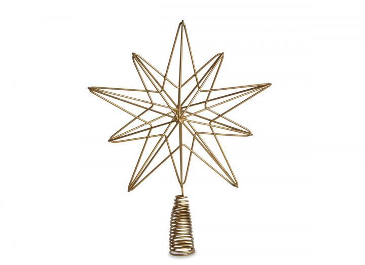 Brass star shaped tree topper from Nkuku