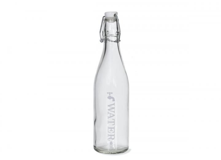 Glass tap water bottle 1L